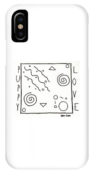 IPhone Case featuring the drawing Puppy Love by Robbie Masso