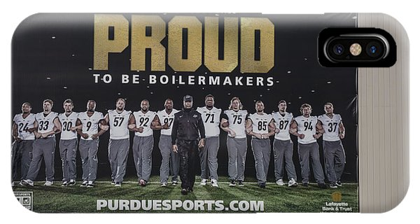 Purdue Boilermakers iPhone Case - Purdue Football 2015 by David Bearden