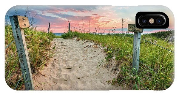 IPhone Case featuring the photograph Pure Michigan Sunset by Sebastian Musial