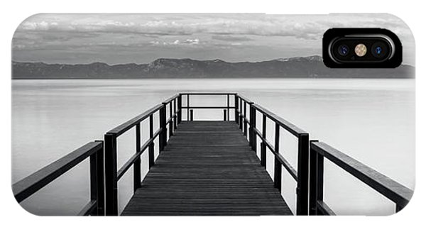 Pure State Of Mind Lake Tahoe Pier IPhone Case