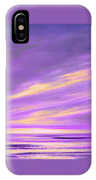 Purple Abstract Sunset IPhone Case