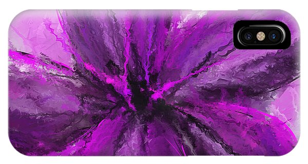 Dark Violet iPhone Case - Purple And Gray Art by Lourry Legarde