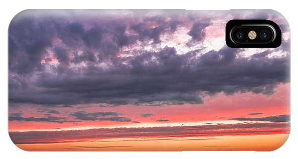 Purple And Red Sky Over Warsaw And Vistula River IPhone Case