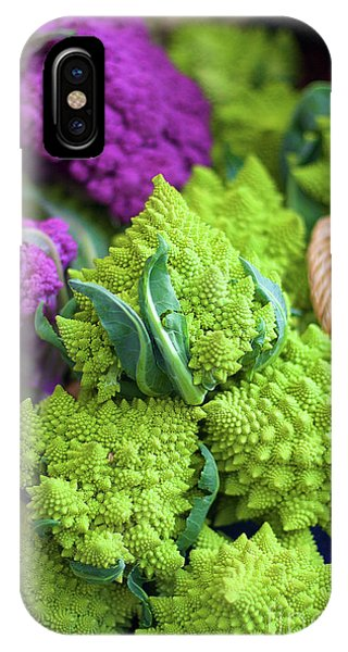 Purple And Romanesco Cauliflower IPhone Case