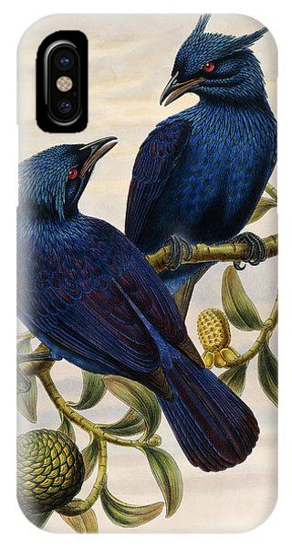 Violet iPhone Case - Purple And Violet Manucode by John Gould
