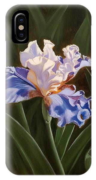 Purple And White Iris IPhone Case