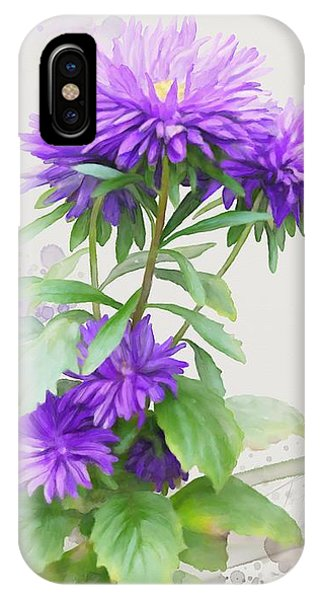 IPhone Case featuring the painting Purple Aster by Ivana