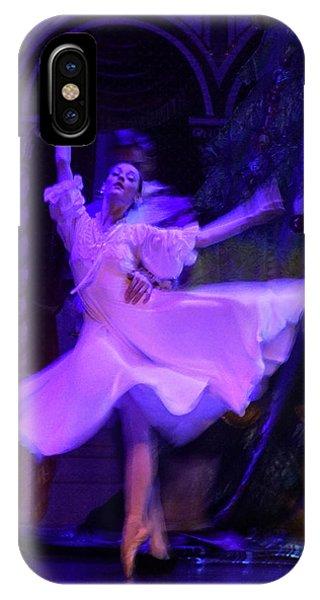 iPhone Case - Purple Ballet Dancer by Ron Morecraft