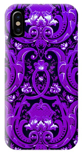 Swanky iPhone Case - Purple Baroque Extravagance  by Peter Ogden Gallery