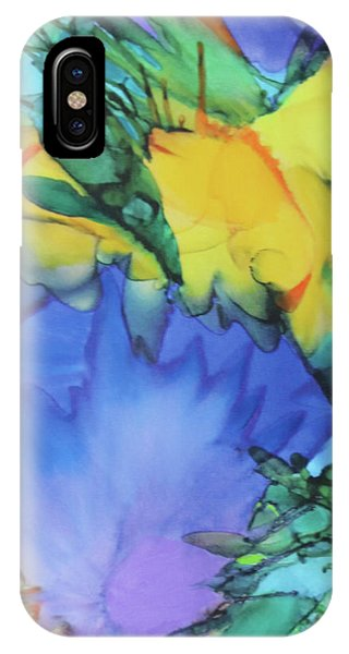 IPhone Case featuring the painting Purple Bird Of Paradise by Deborah Boyd