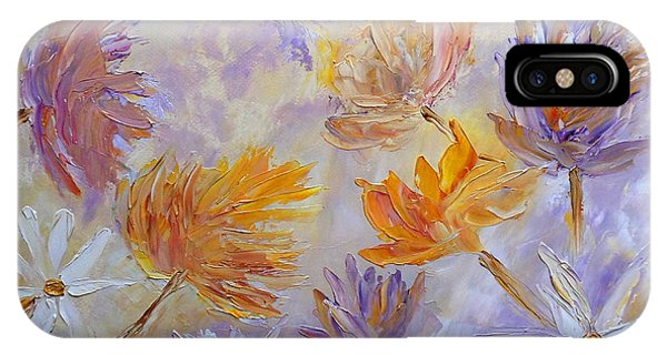 IPhone Case featuring the painting Purple Blaze by Angeles M Pomata