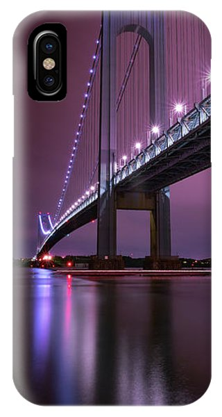 IPhone Case featuring the photograph Purple Bridge by Edgars Erglis