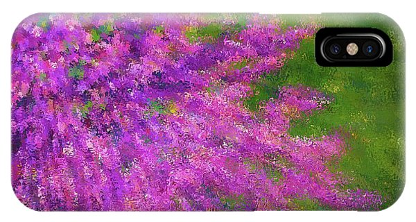 Purple Bush IPhone Case