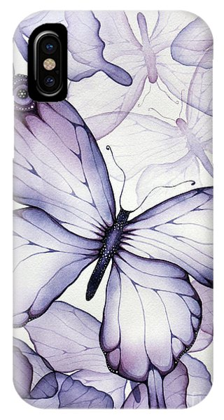 Insect iPhone Case - Purple Butterflies by Christina Meeusen