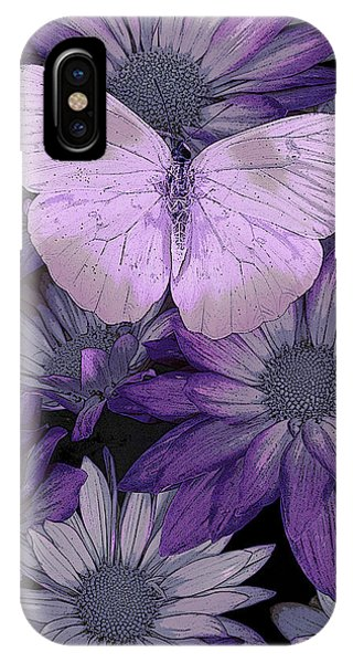 Colorful Flowers iPhone Case - Purple Butterfly by JQ Licensing