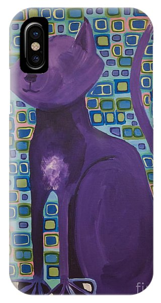 Purple Cat IPhone Case