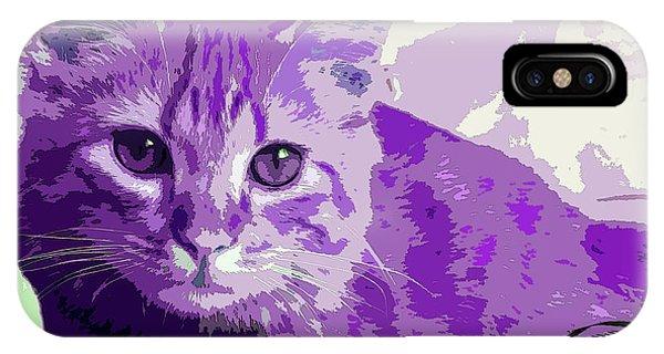 Purple Cat IPhone Case