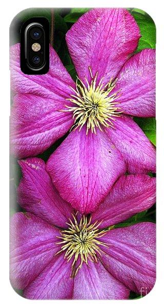 Purple Clematis 2 IPhone Case