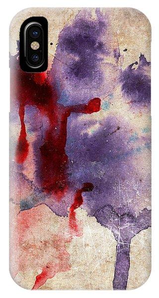Purple Color Splash IPhone Case