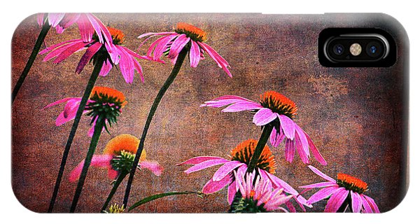 Purple Coneflowers Out Of Alignment  IPhone Case