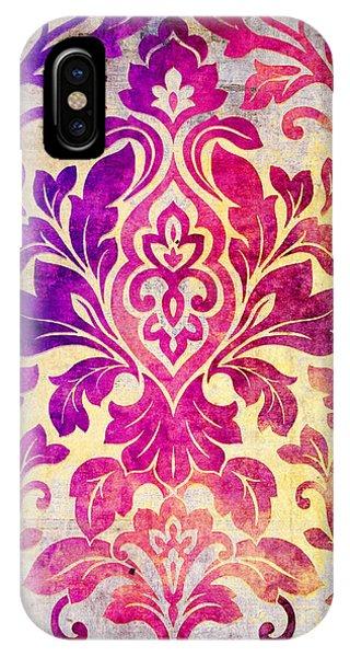 Purple Damask Pattern IPhone Case