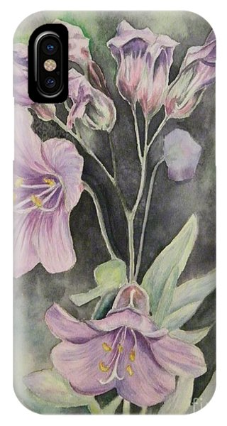 Purple Delight Wildflowers IPhone Case
