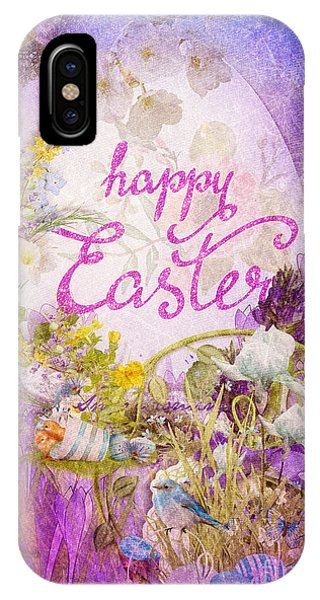 Alleluja iPhone Case - Purple Easter by Mo T