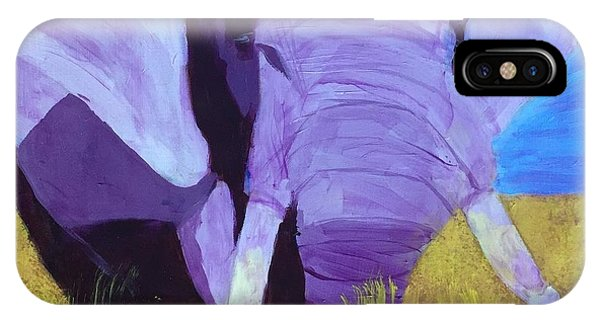 Purple Elephant IPhone Case