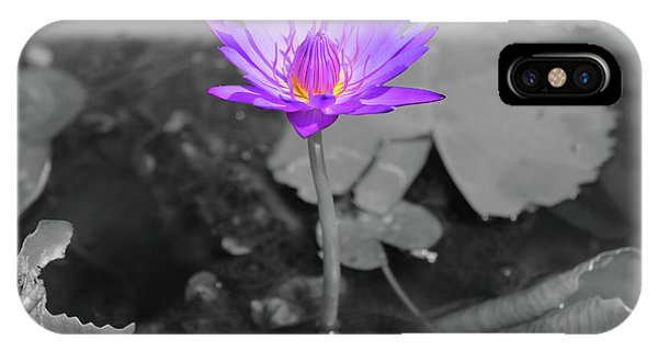 Purple Enlightened Lotus IPhone Case