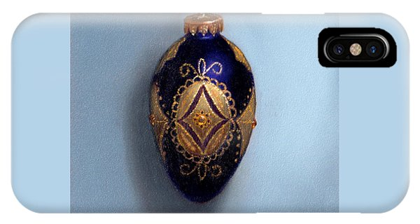 Purple Filigree Egg Ornament IPhone Case