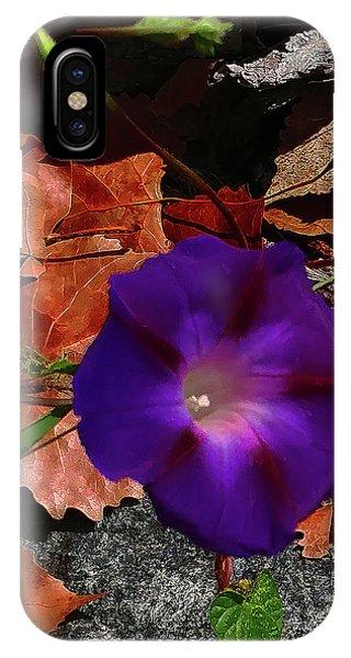 Purple Flower Autumn Leaves IPhone Case