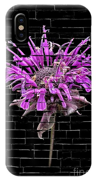 Purple Flower Under Bricks IPhone Case