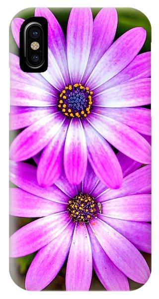 Fall Flowers iPhone Case - Purple Flowers by Az Jackson