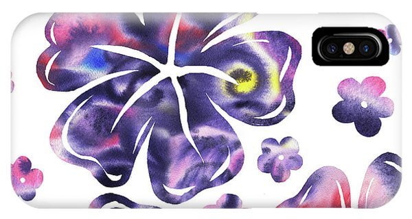 Hibiscus Flower iPhone Case - Purple Flowers Dance by Irina Sztukowski