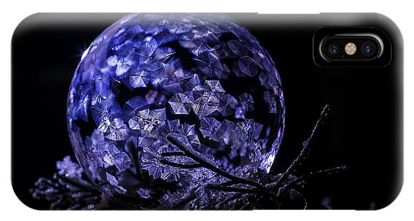 Purple Frozen Bubble Art IPhone Case