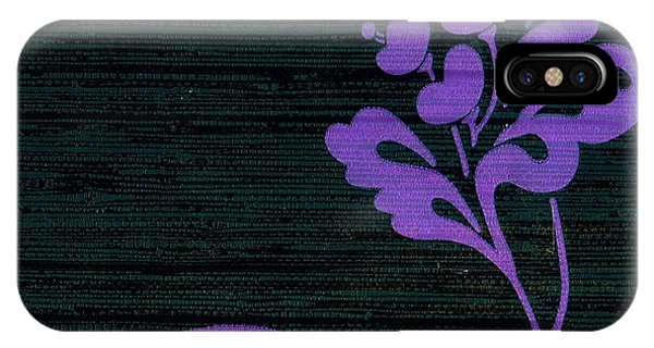 Purple Glamour On Black Weave IPhone Case