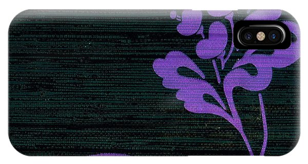 Purple Glamour On Black Weave IPhone Case