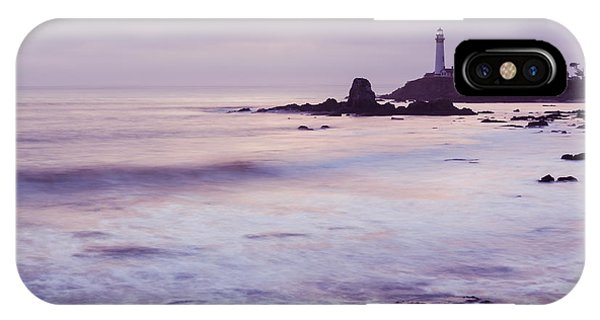 IPhone Case featuring the photograph Purple Glow At Pigeon Point Lighthouse Alternate Crop by Priya Ghose
