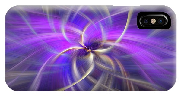 Violet Flame iPhone Case - Purple Gold Colored Abstract. Concept Spirituality by Jenny Rainbow