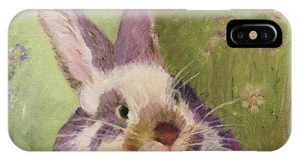 Purple Hare IPhone Case