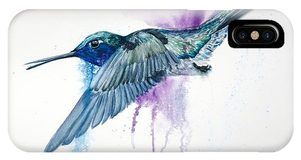 Humming Bird iPhone Case -  Da182 Purple Haze Daniel Adams by Daniel Adams
