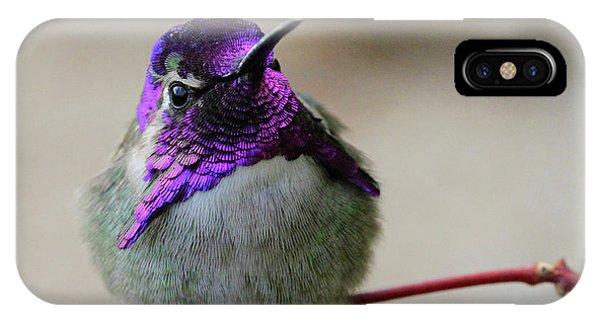 Purple Head IPhone Case