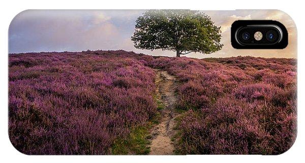 Purple Hill IPhone Case