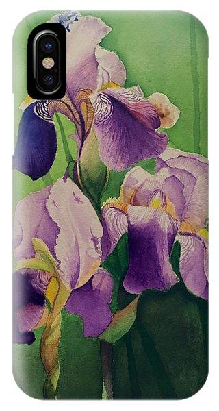 David Hoque iPhone Case - Purple Iris' by David Hoque