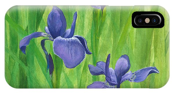 IPhone Case featuring the painting Purple Iris by Phyllis Howard