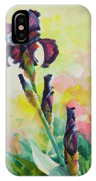 Sunny iPhone Case - Purple Iris by Steve Henderson