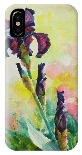 Blooming iPhone Case - Purple Iris by Steve Henderson
