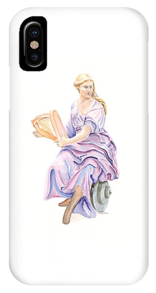 Purple Lady IPhone Case