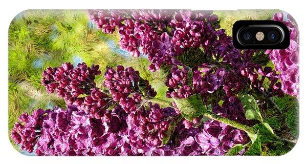 Purple Lilac 1 IPhone Case