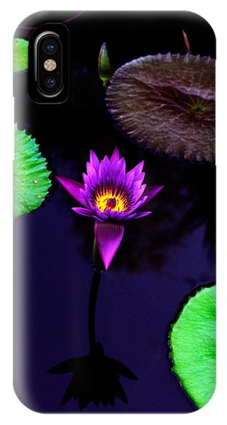 Floral iPhone Case - Purple Lily by Gary Dean Mercer Clark